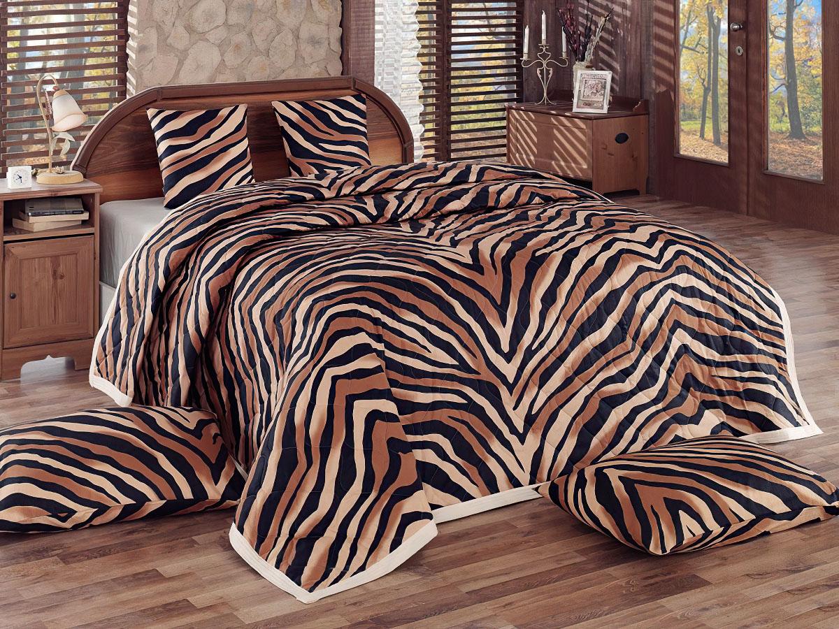 Přehoz na postel BENGAL HNĚDÝ, 220x240cm, dvojlůžkový