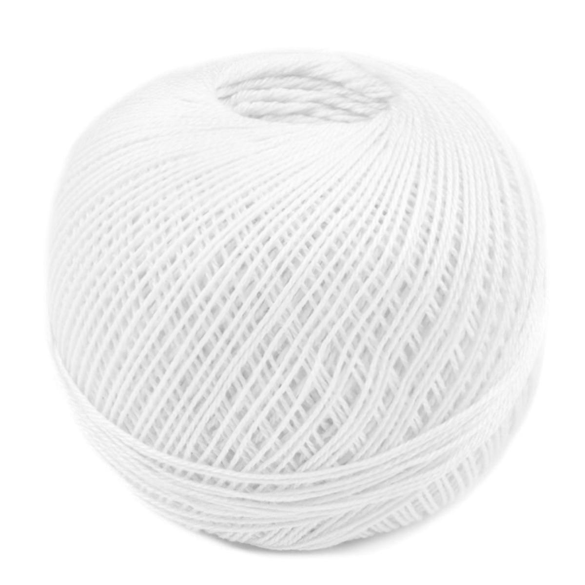 Pletací / háčkovací příze SNĚHURKA 010 bílá, jednobarevná, 30g/200m