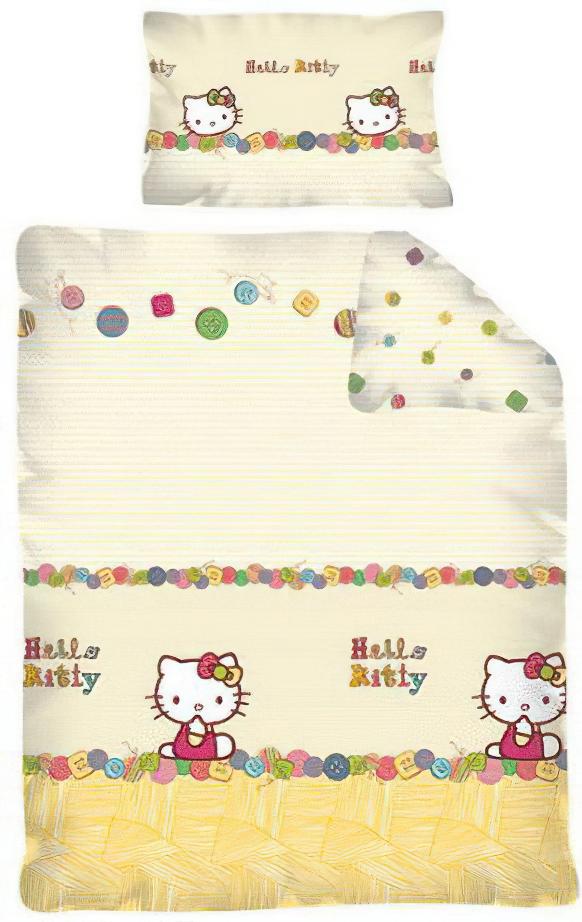 Dětské povlečení HELLO KITTY 12 bavlna hladká, 100x135cm