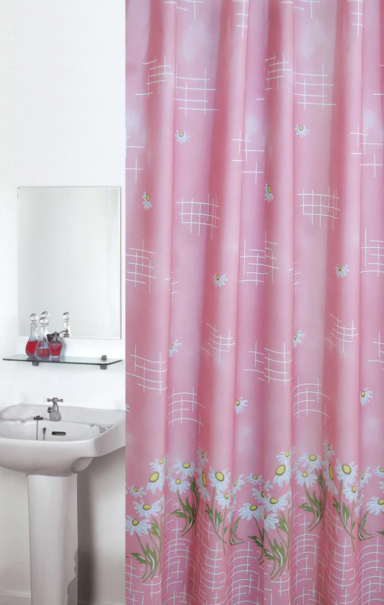 Koupelnový závěs KOPRETINA RŮŽOVÁ, 180x200cm