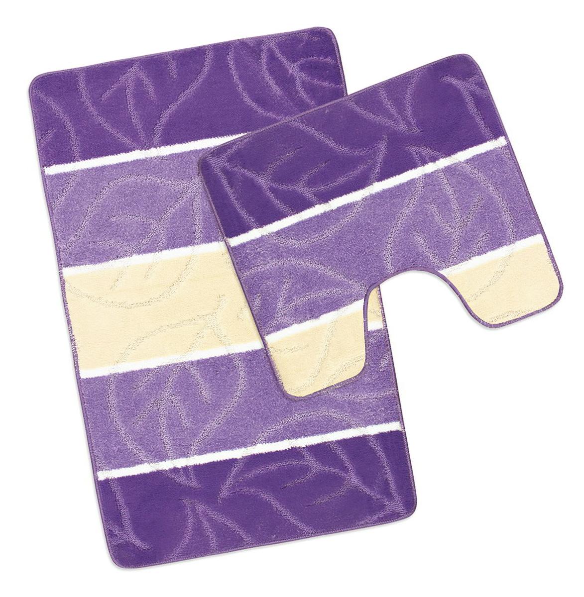 Koupelnová předložka FIALOVÝ LIST (více rozměrů)