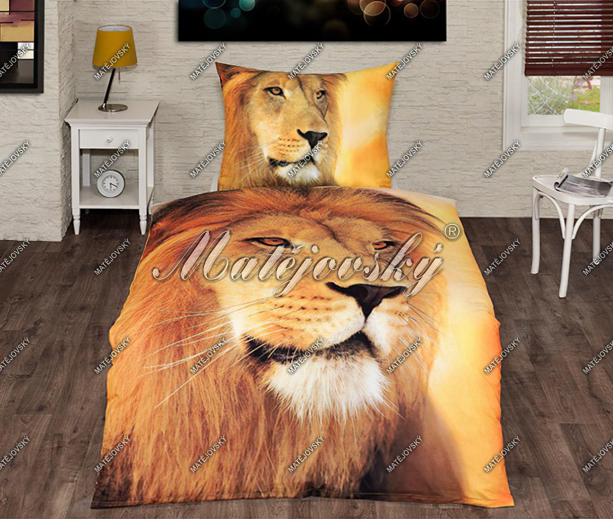 Povlečení LION KING fototisk, bavlna hladká, 140x200cm