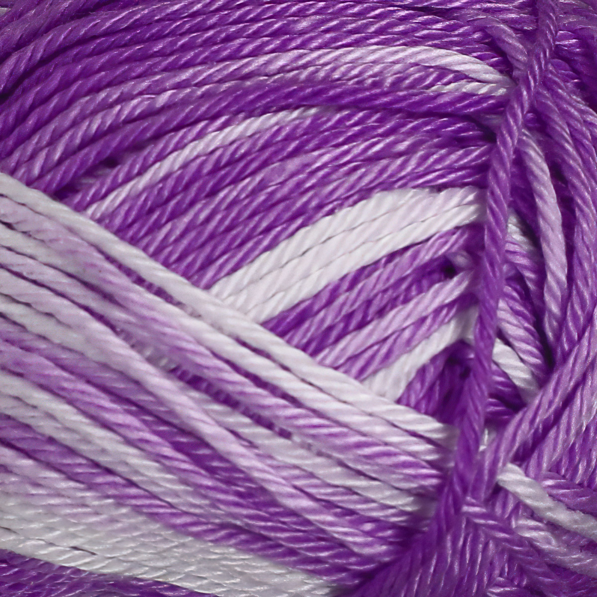 Pletací / háčkovací příze STOREX CAMILA NATURAL MULTICOLOR 9133 fialová, melírovaná, 50g/125m