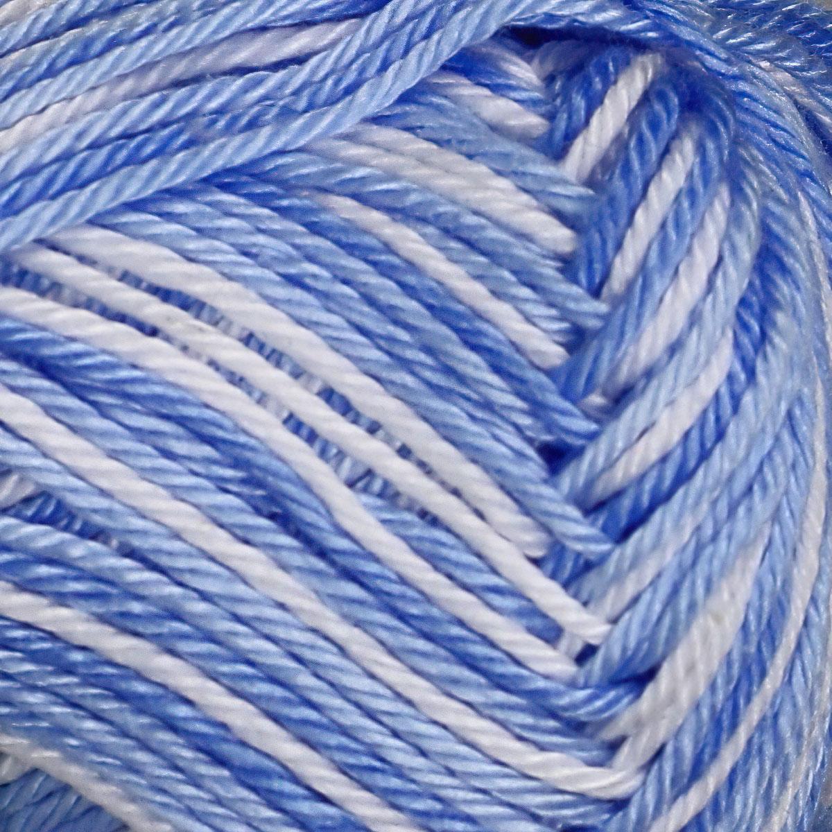 Pletací / háčkovací příze STOREX CAMILA NATURAL MULTICOLOR 9099 modrá, melírovaná, 50g/125m