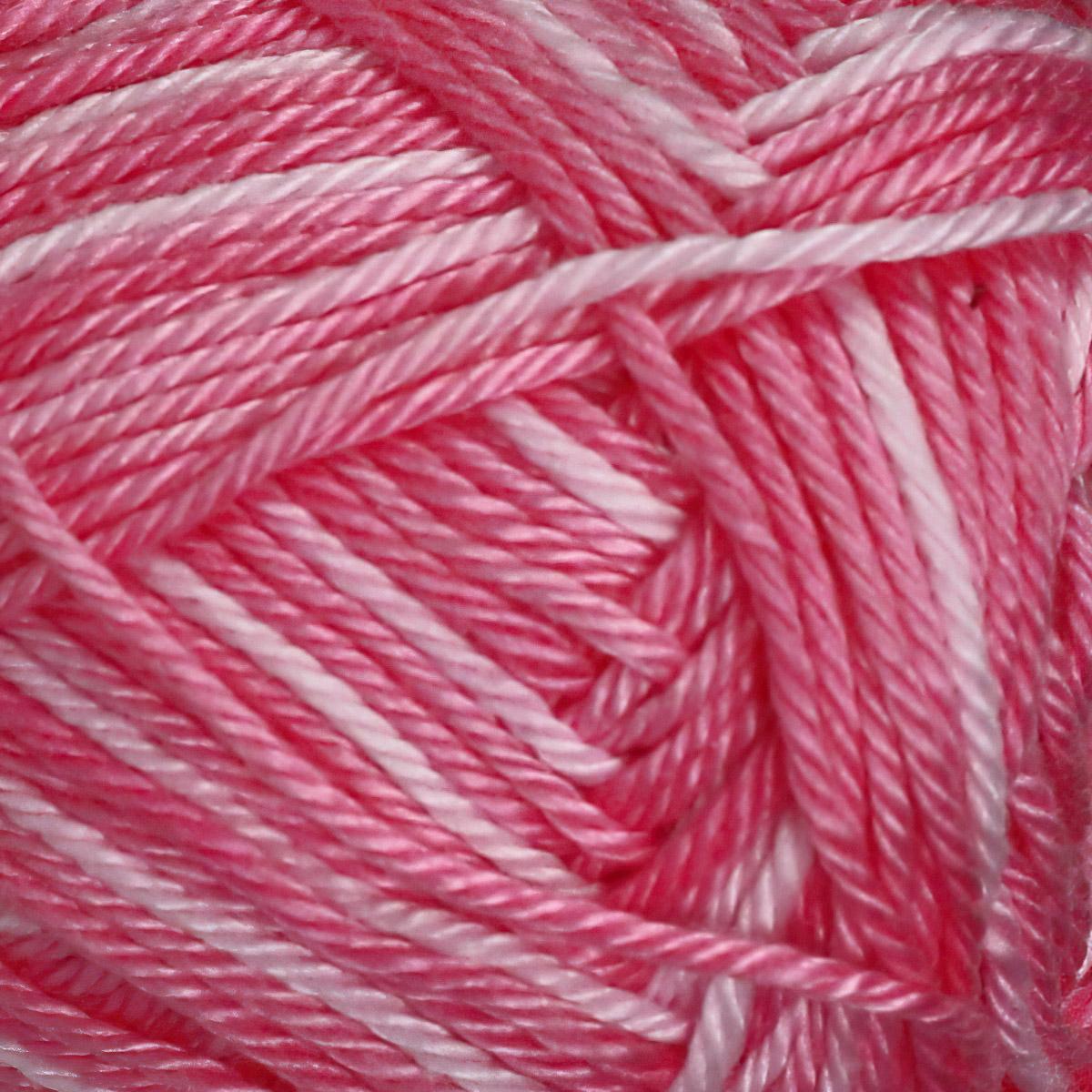 Pletací / háčkovací příze STOREX CAMILA NATURAL MULTICOLOR 9002 růžová, melírovaná, 50g/125m