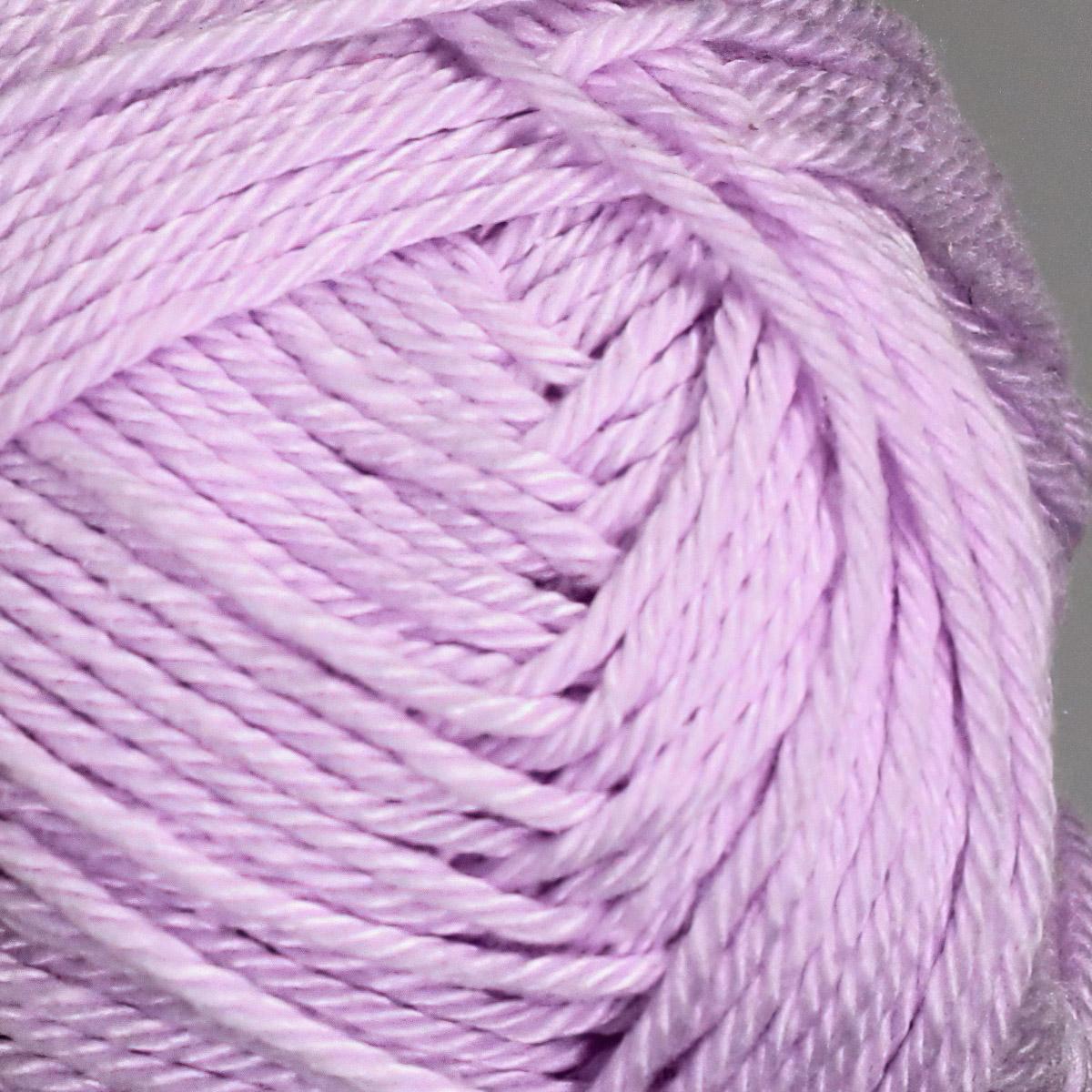 Pletací / háčkovací příze STOREX CAMILA NATURAL 50 světle fialová, jednobarevná, 50g/125m
