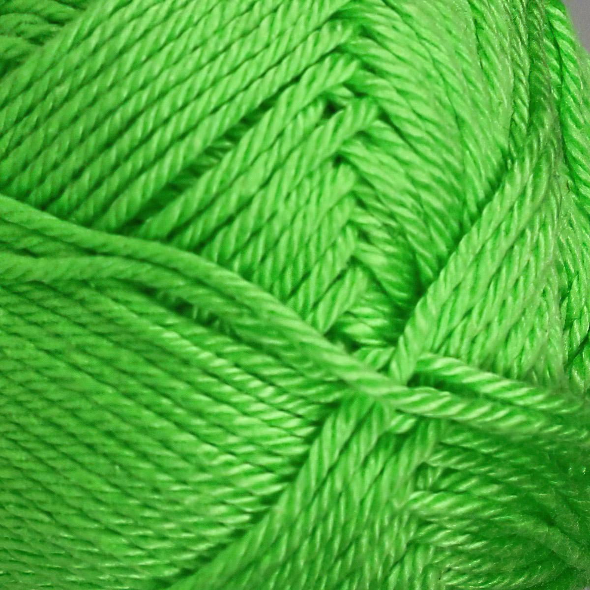 Pletací / háčkovací příze STOREX CAMILA NATURAL 155 zelená, jednobarevná, 50g/125m