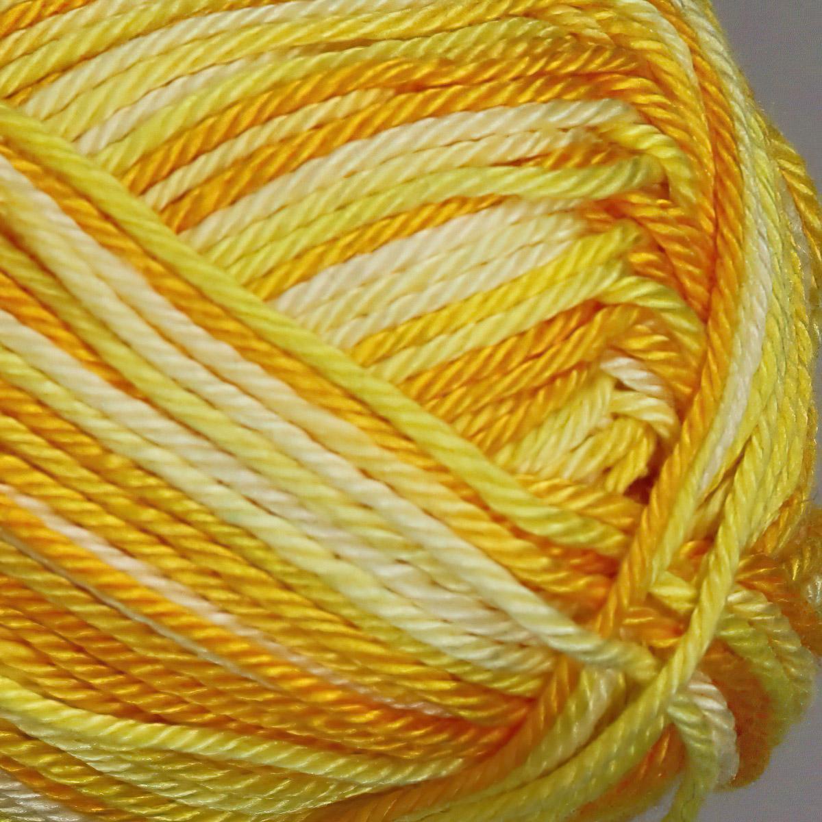 Pletací / háčkovací příze STOREX CAMILA NATURAL MULTICOLOR 9087 žlutá, melírovaná, 50g/125m