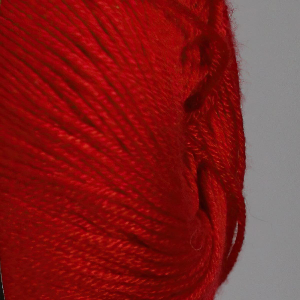 Pletací / háčkovací příze YarnArt BAMBOO 555 červená, jednobarevná, 50g/200m