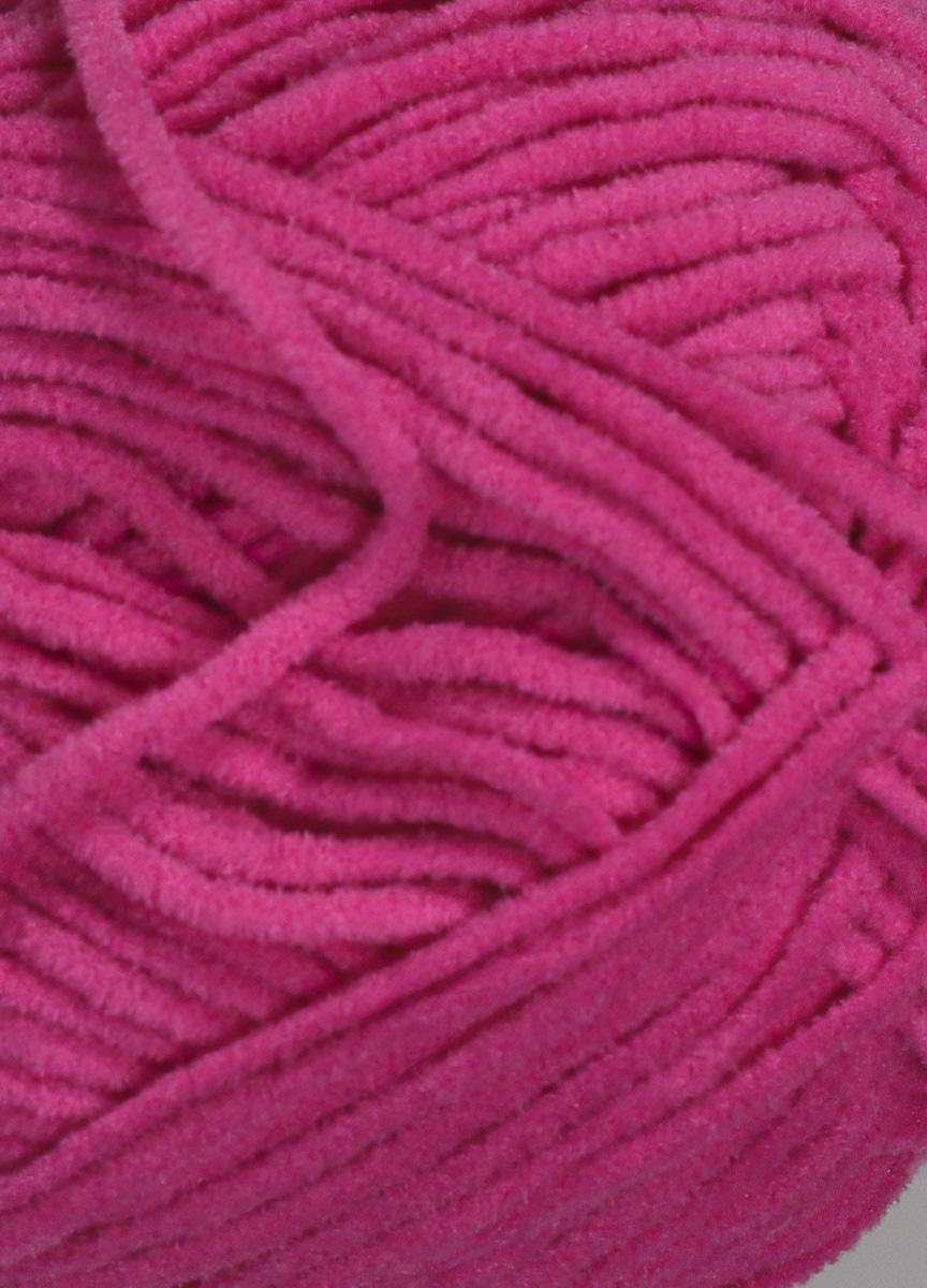 Pletací příze YarnArt SUEDE 345 sytě růžová, efektní, 50g/135m