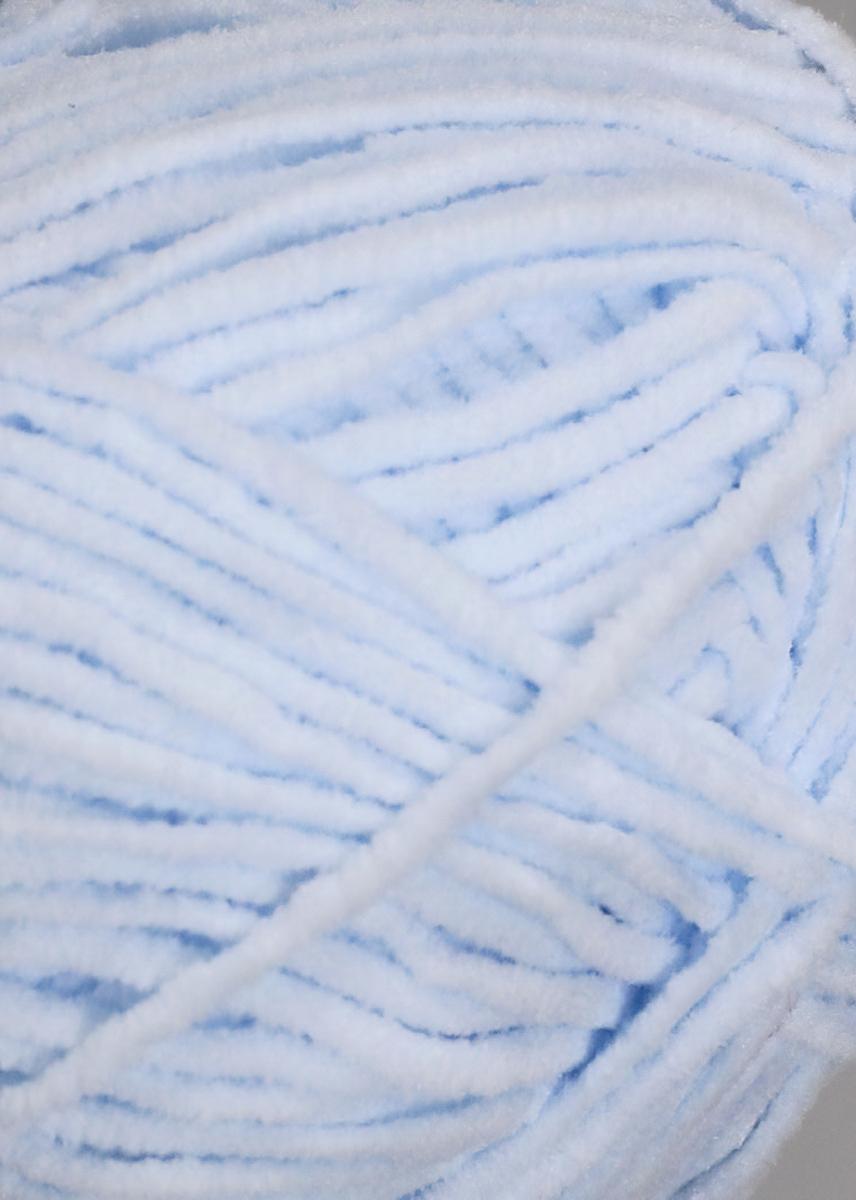 Pletací příze YarnArt SUEDE 338 světle modrá, efektní, 50g/135m