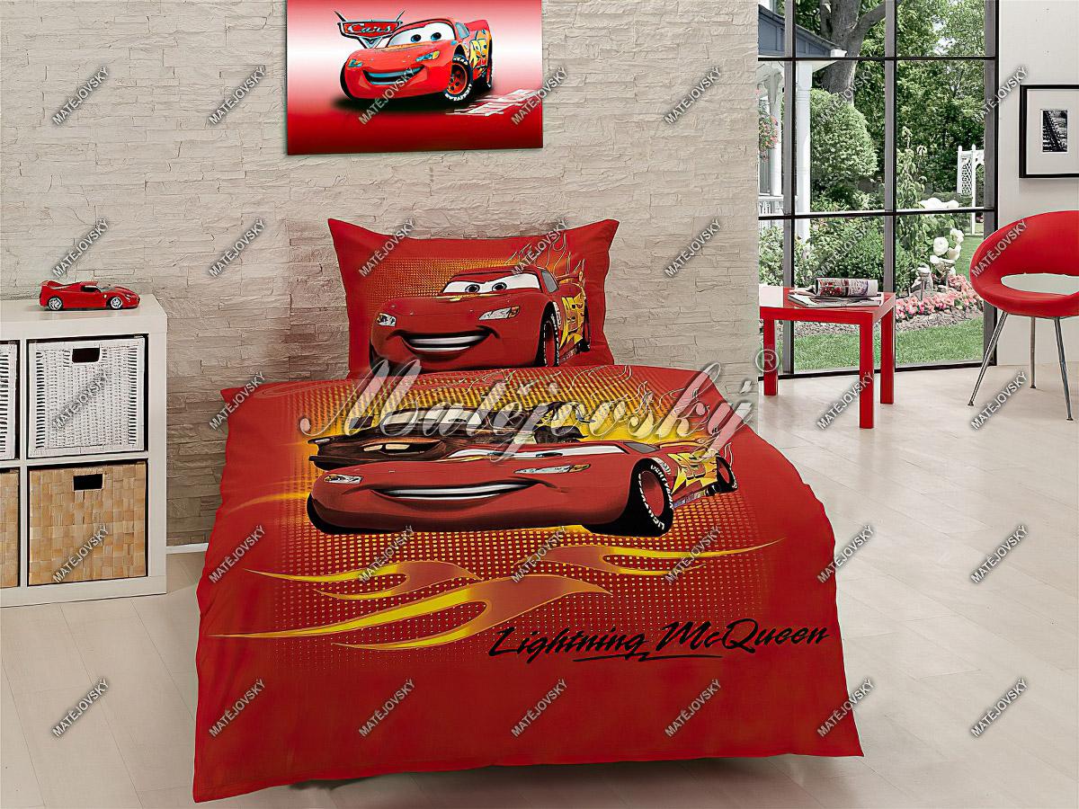 Dětské povlečení CARS McQueen (AUTA) bavlna hladká, 140x200cm