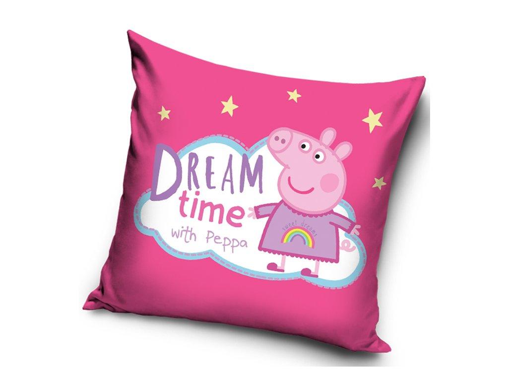 Dětský povlak na polštářek PRASÁTKO PEPINA dream time, 40x40cm