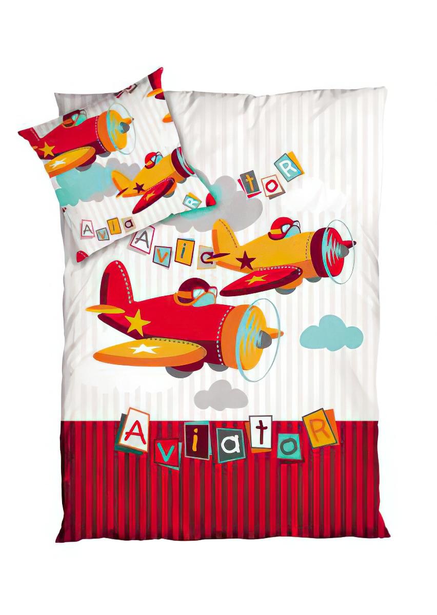 Dětské povlečení AVIATOR bavlna hladká, 140x200cm + 70x90cm