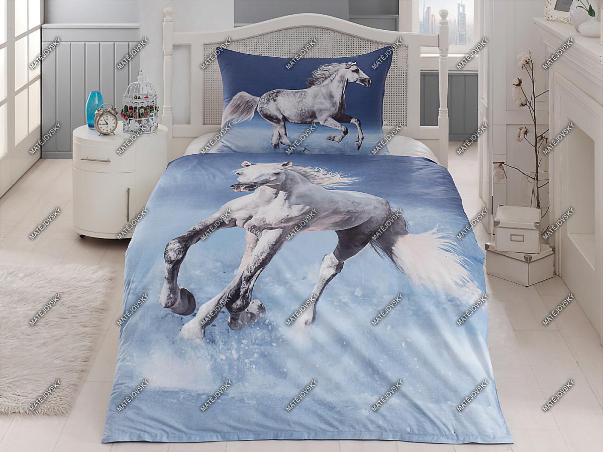 Povlečení CAVALLO bílý kůň, bavlna hladká (více rozměrů)