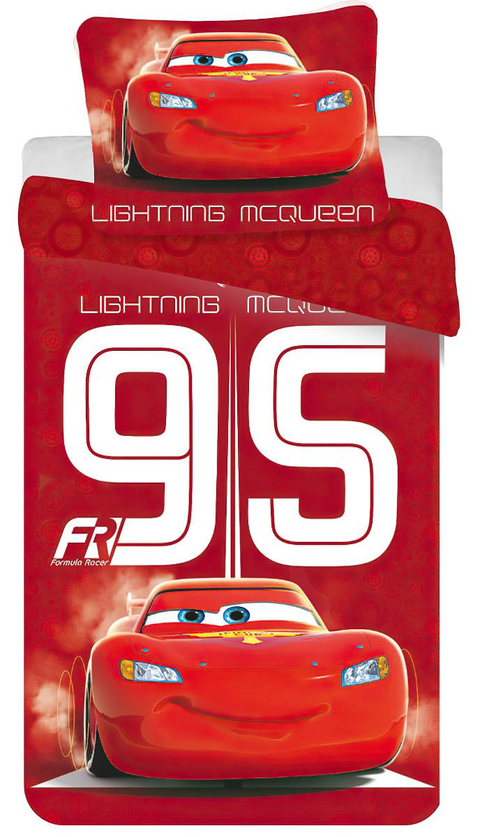 Dětské povlečení CARS 95 RED (AUTA) bavlna hladká, 140x200cm + 70x90cm