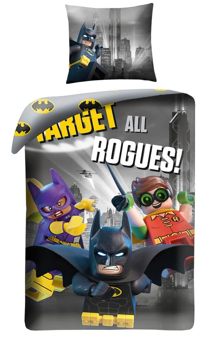 Dětské povlečení LEGO 512 BATMAN bavlna hladká, 140x200cm + 70x90cm