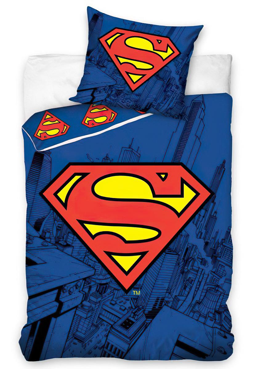 Dětské povlečení SUPERMAN bavlna hladká, 140x200cm + 70x80cm