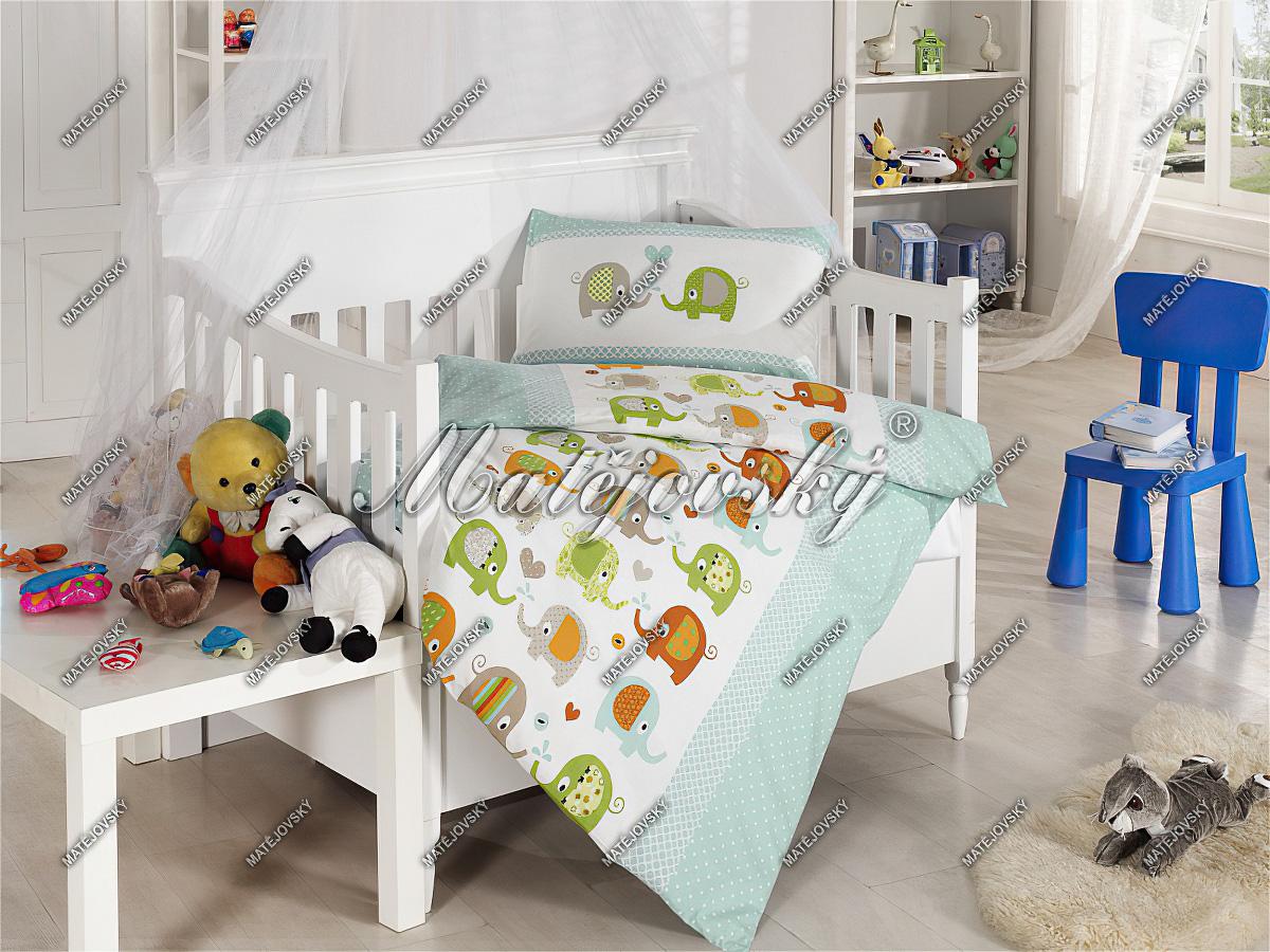 Dětské povlečení do postýlky ELPHY bavlna hladká (více rozměrů)