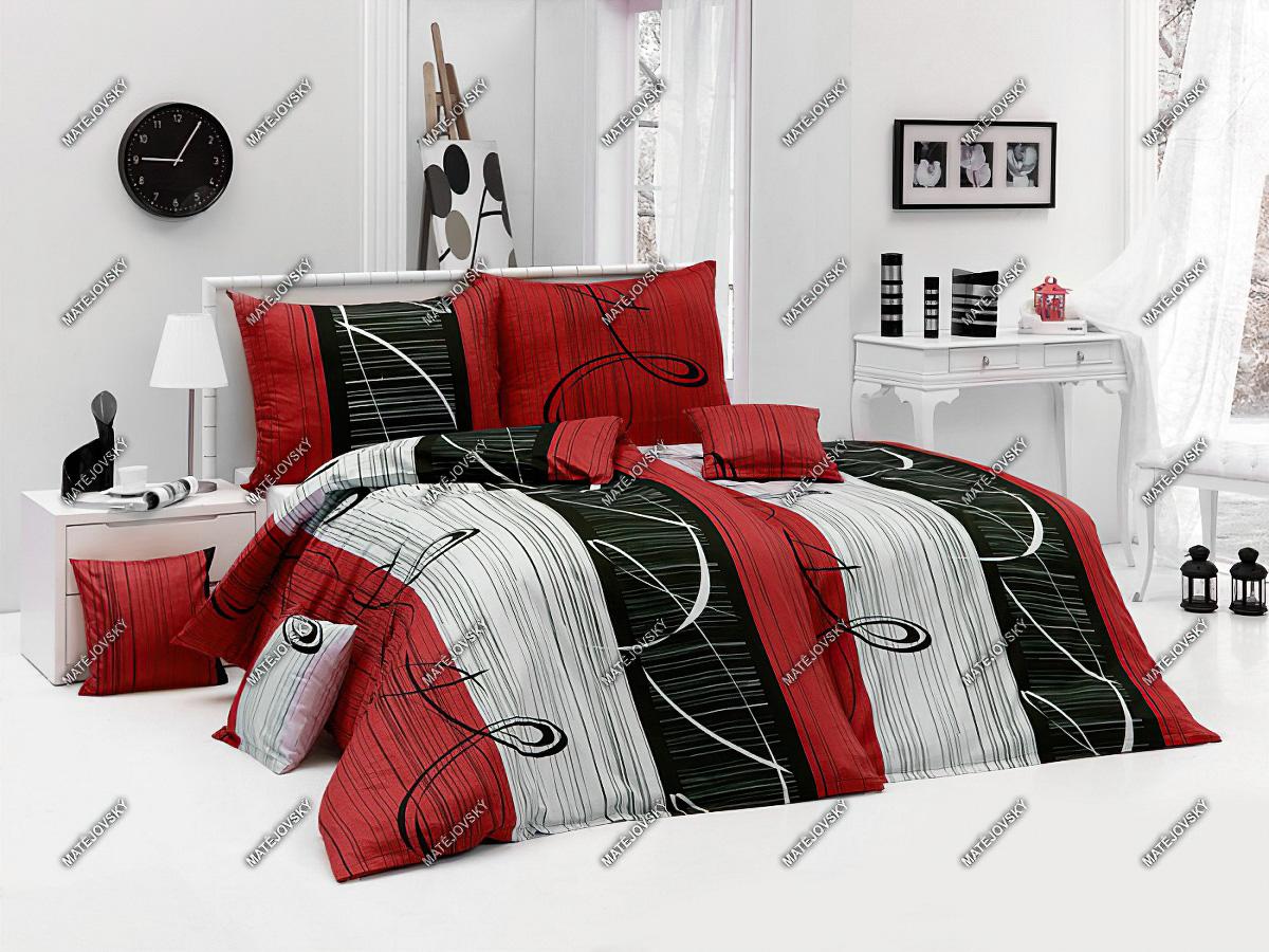 Povlečení ETERNITY RED bavlna hladká (více rozměrů)
