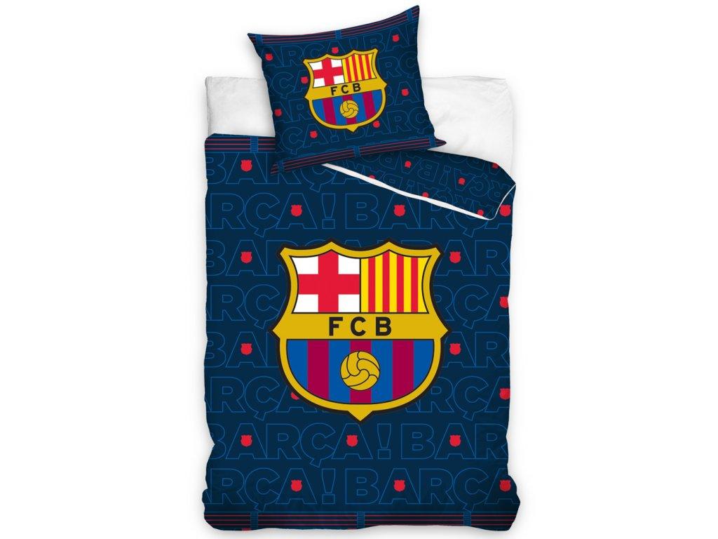 Fotbalové povlečení FC BARCELONA BARCA bavlna hladká, 140x200cm + 70x80cm