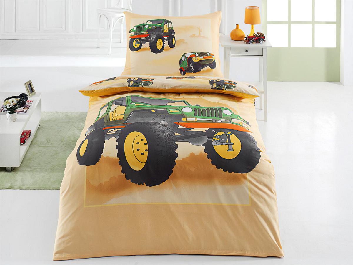 Dětské povlečení JEEP bavlna hladká, 140x200cm + 70x90cm