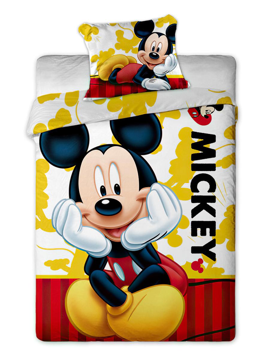 Dětské povlečení MICKEY 2015 bavlna hladká, 140x200cm + 70x80cm