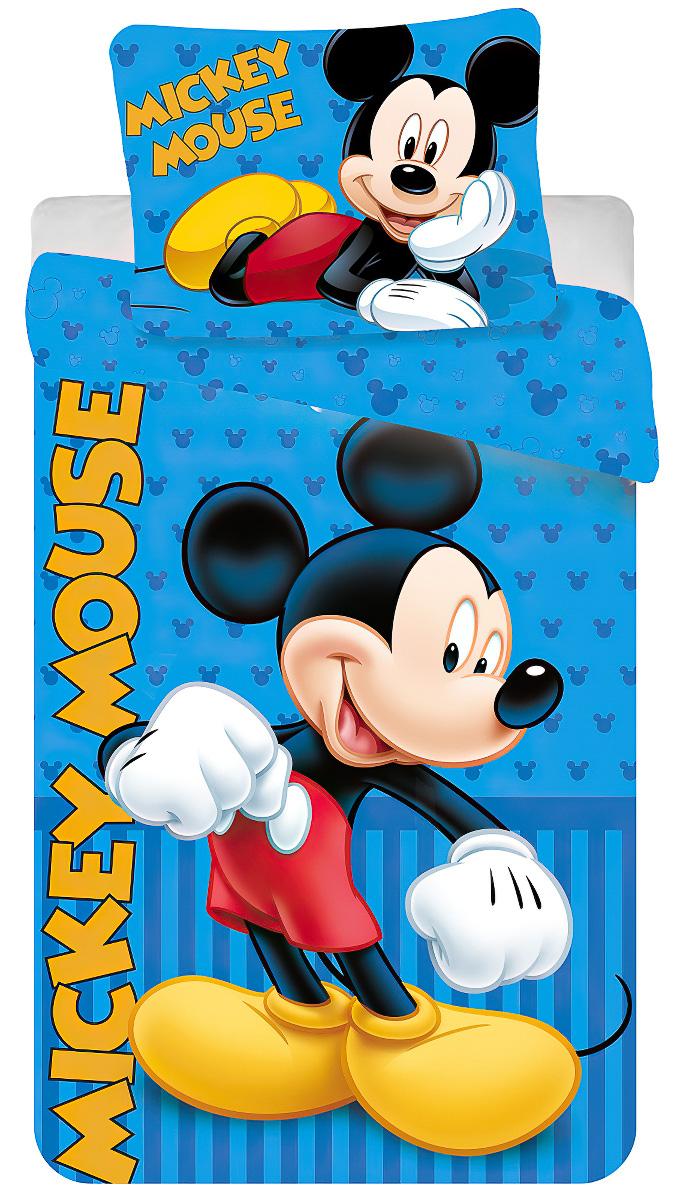 Dětské povlečení MICKEY BLUE bavlna hladká, 140x200cm + 70x80cm