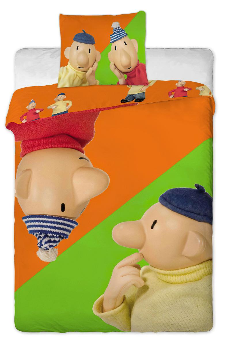 Dětské povlečení PAT A MAT ORANŽOVÝ bavlna hladká, 140x200cm + 70x90cm