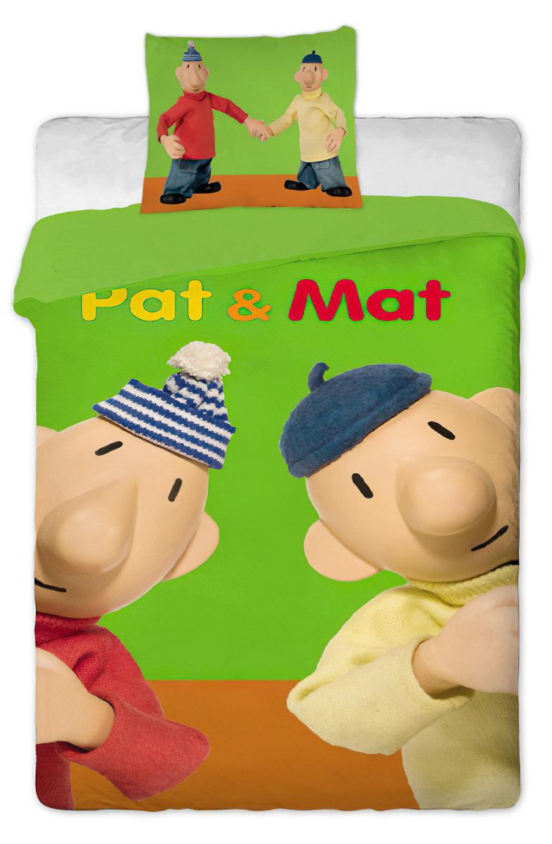 Dětské povlečení PAT A MAT ZELENÉ bavlna hladká, 140x200cm + 70x90cm