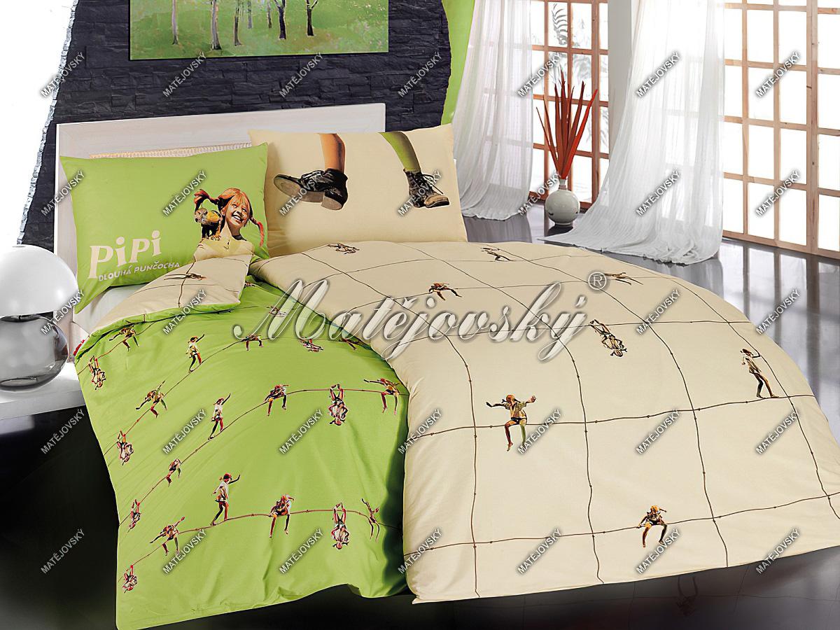 Dětské povlečení PIPI bavlna hladká, 140x200cm + 70x90cm