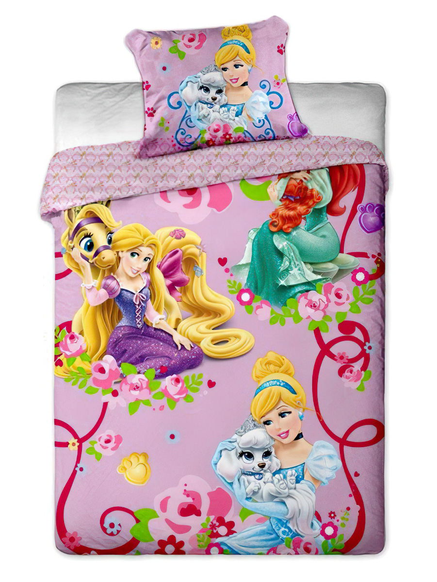 Dětské povlečení PRINCEZNY 2015 bavlna hladká, 140x200cm + 70x90cm