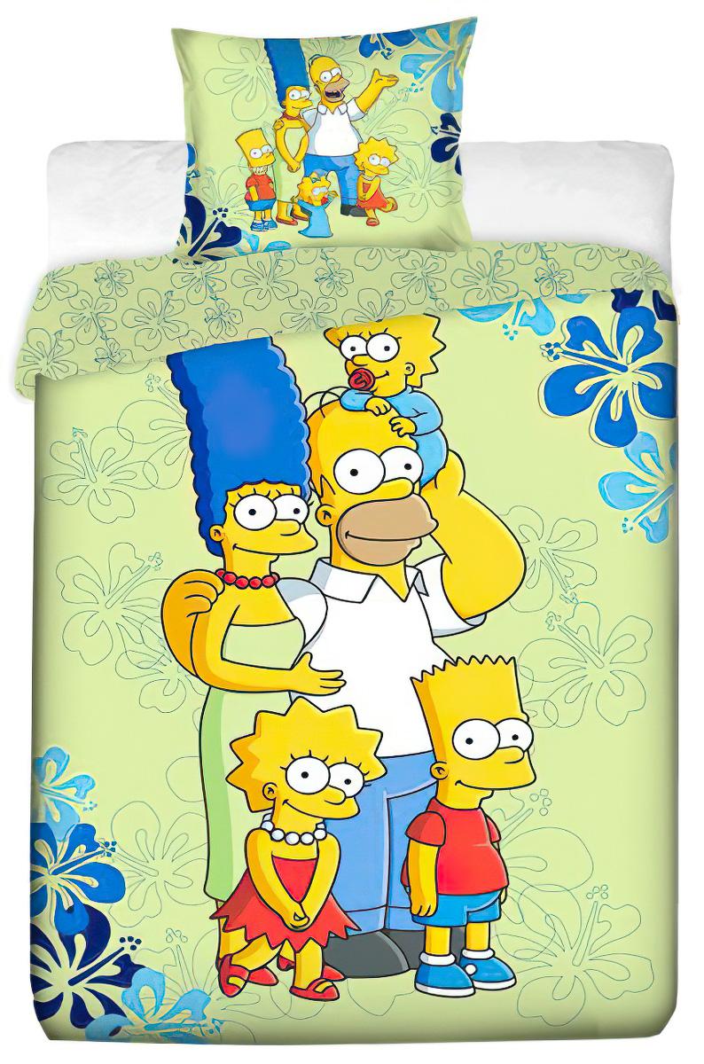 Dětské povlečení SIMPSONS FAMILY 2016 bavlna hladká, 140x200cm + 70x90cm