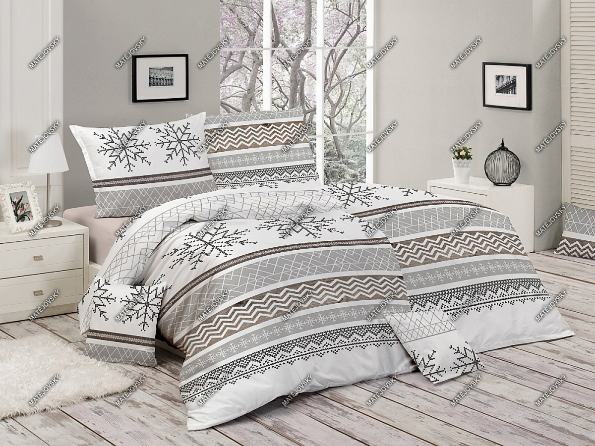 Povlečení SNOW (SNÍH) bavlna hladká (více rozměrů)