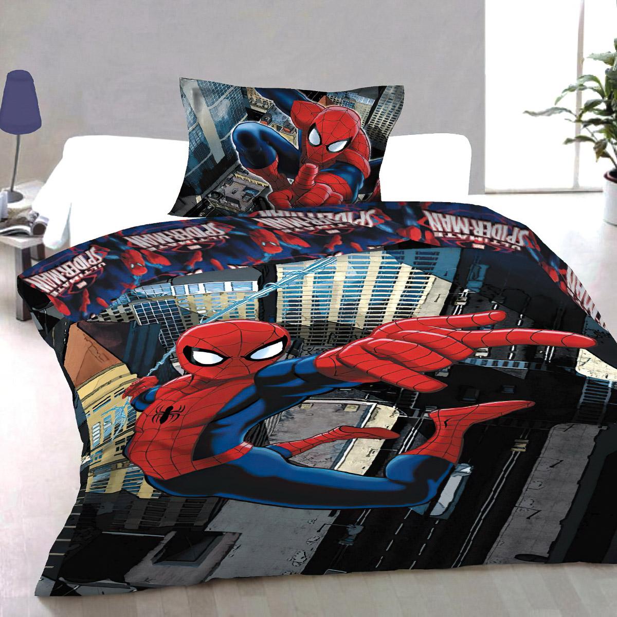 Dětské povlečení SPIDERMAN 2012 bavlna hladká, 140x200cm