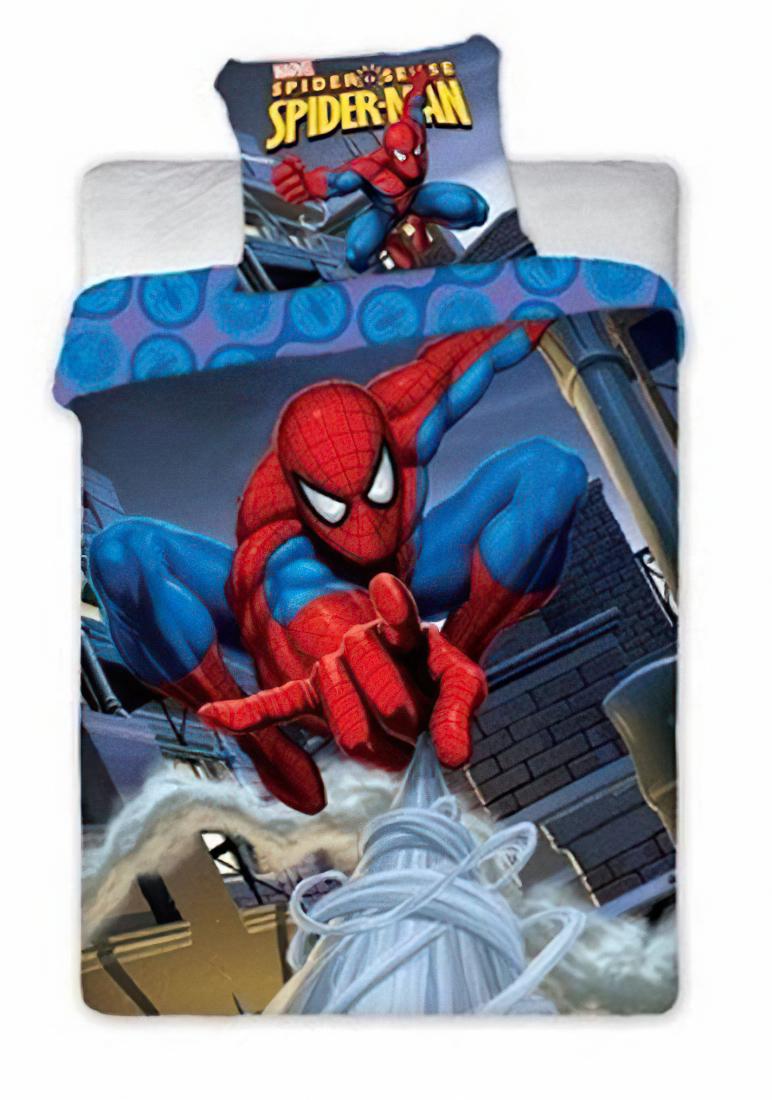 Dětské povlečení SPIDERMAN 4SL bavlna hladká, 140x200cm + 70x90cm