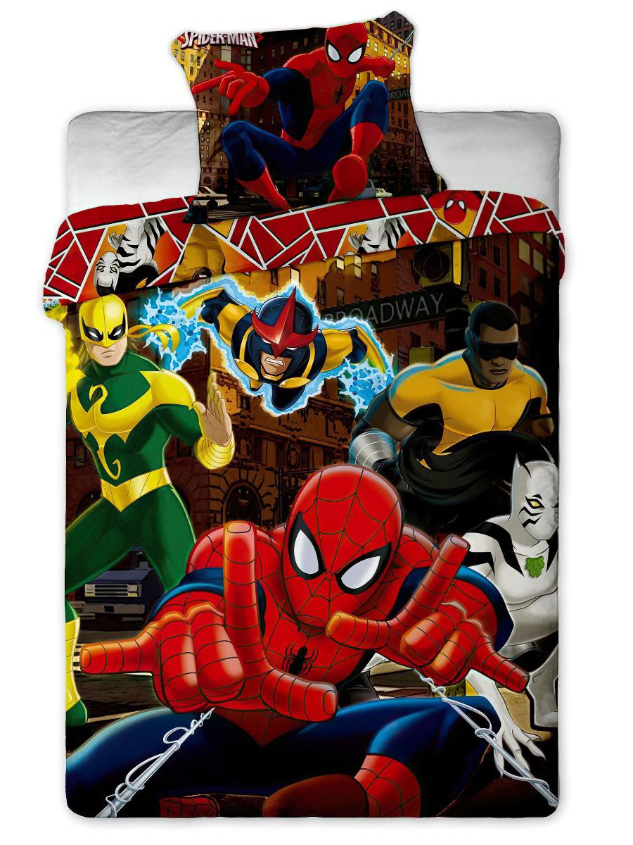 Dětské povlečení SPIDERMAN HERO bavlna hladká, 140x200cm + 70x90cm