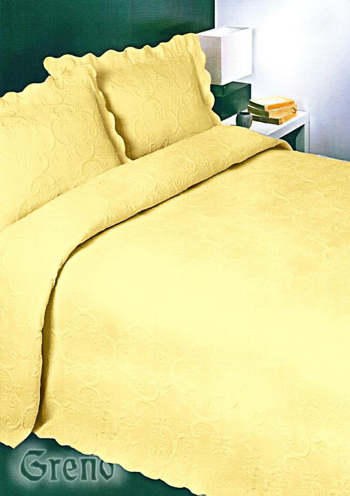 Přehoz na postel BAROK ŽLUTÝ, 170x210cm, jednolůžko