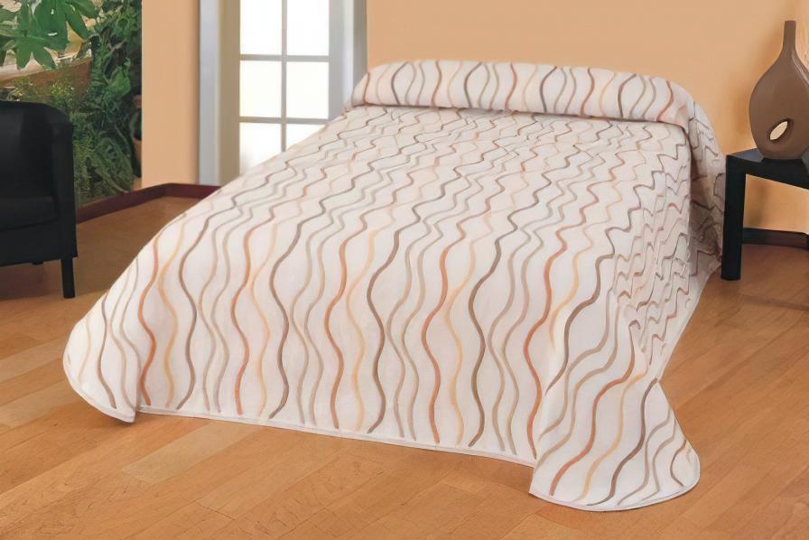 Přehoz na postel BELLA PŘÍRODNÍ, 240x260cm, dvoulůžkový