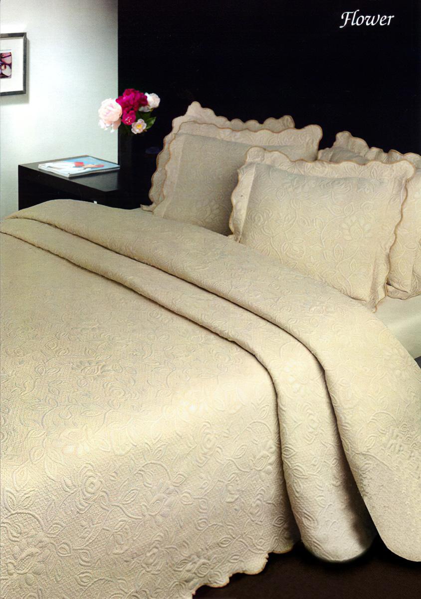 Přehoz na postel FLOWER BÉŽOVÝ (více rozměrů)