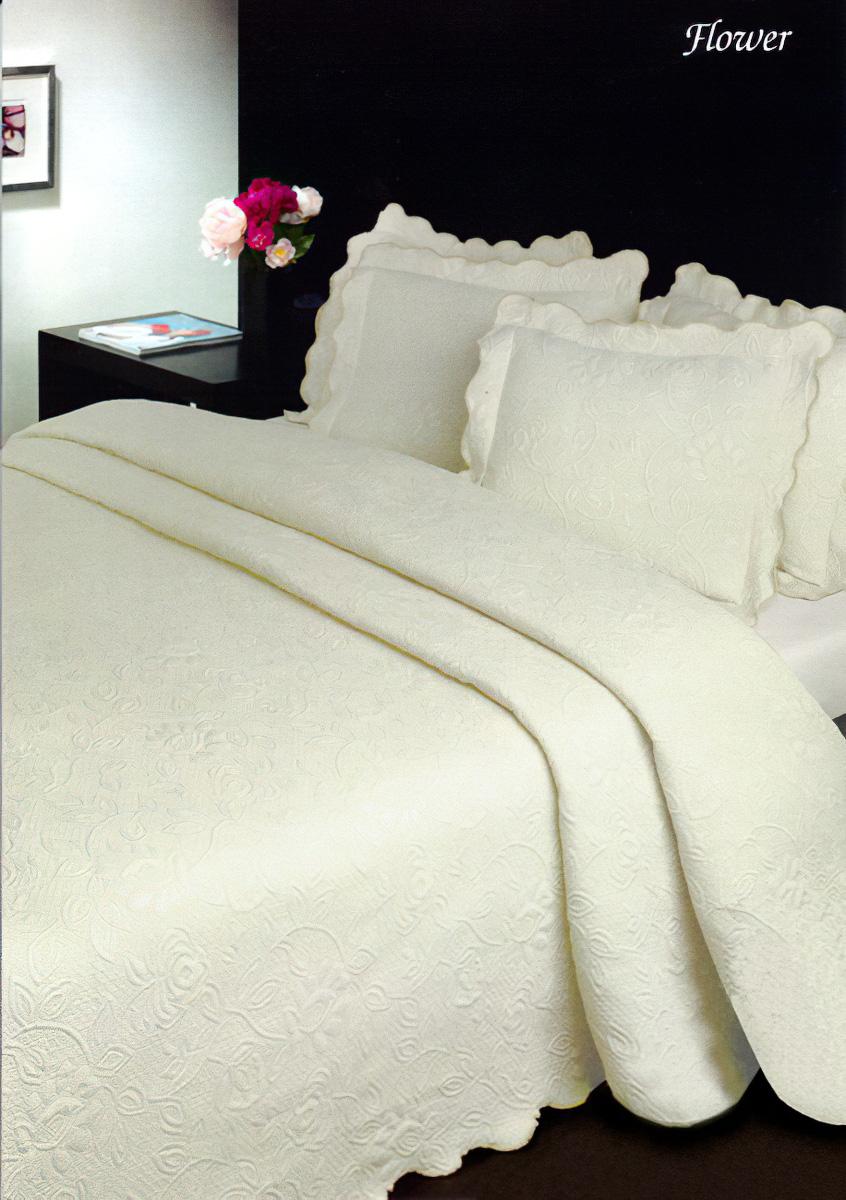 Přehoz na postel FLOWER KRÉMOVÝ (více rozměrů)