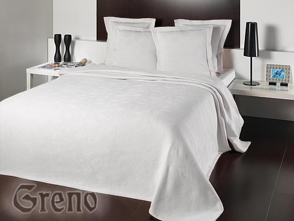 Přehoz na postel LAVINIA BÍLÝ, 170x210cm, jednolůžkový