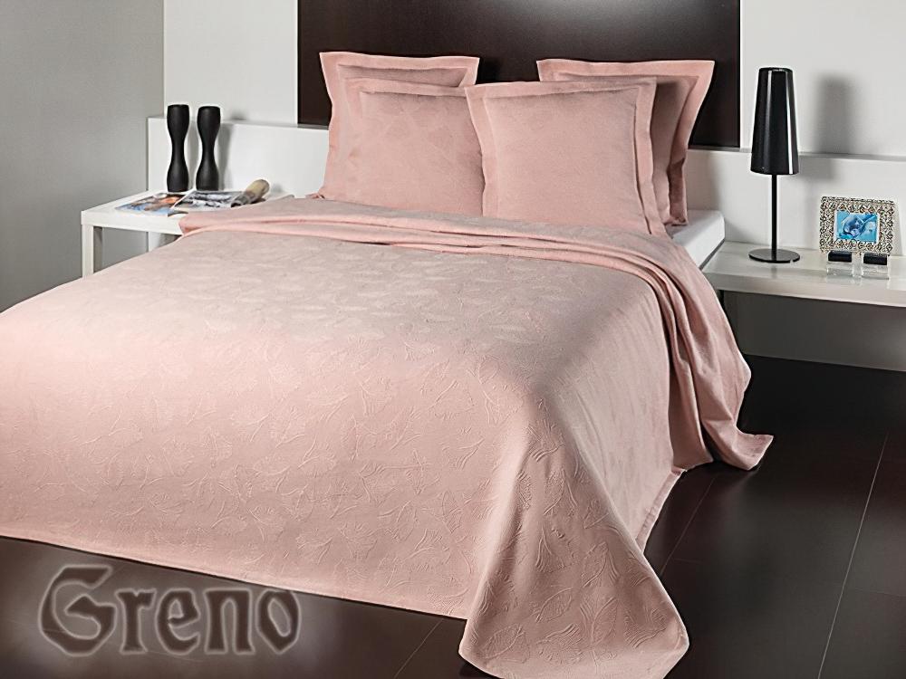 Přehoz na postel LAVINIA LOSOSOVÝ (více rozměrů)