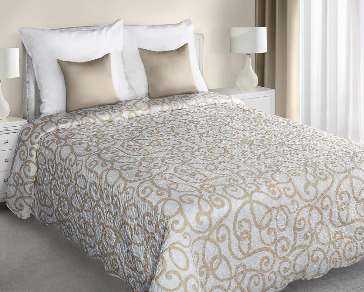 Přehoz na postel MILO BÉŽOVÝ, 220x240cm, dvojlůžkový
