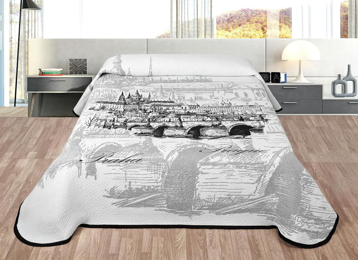 Přehoz na postel PRAHA šedá (více rozměrů)
