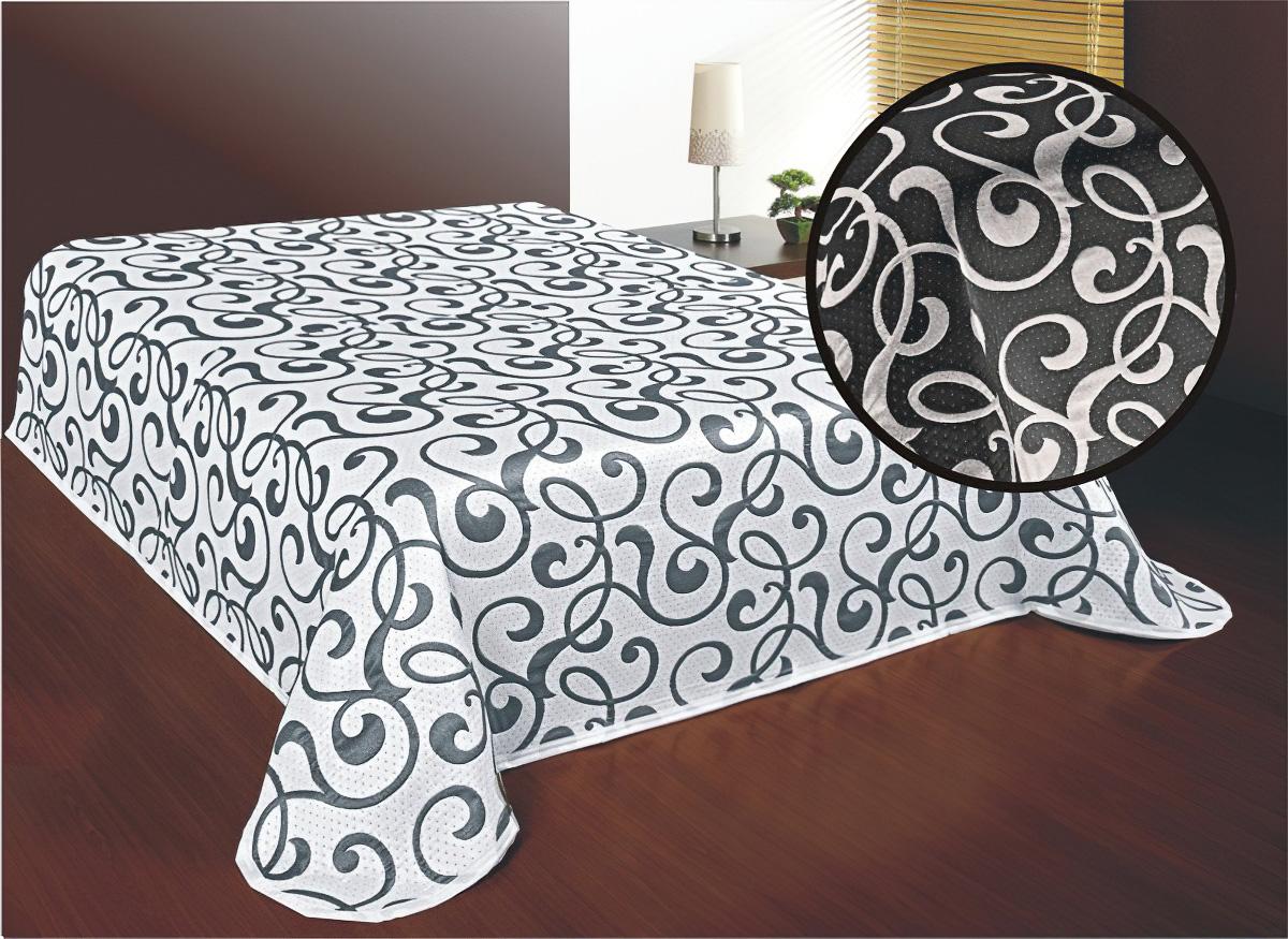 Přehoz na postel SERENA ČERNO-BÍLÝ (více rozměrů)
