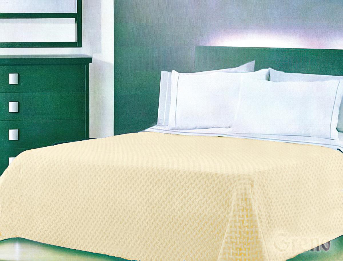 Přehoz na postel TECHNO KRÉMOVÝ, 220x260cm, dvoulůžkový