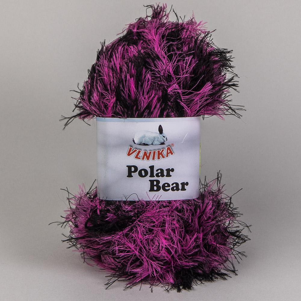 Pletací příze Vlnika POLAR BEAR 604 růžovo-černá, melírovaná, 100g/90m