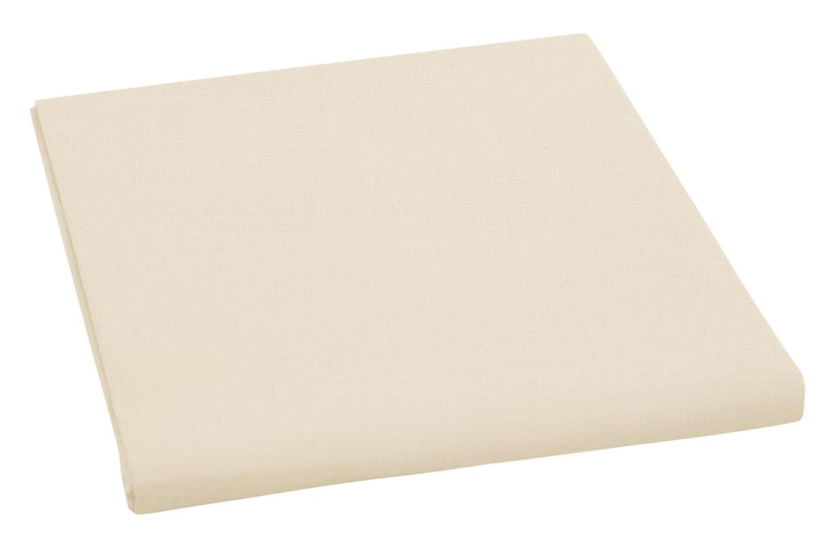 Bavlněné plátěné prostěradlo, plachta 150x230cm, béžové