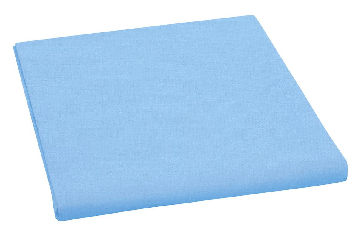Bavlněné plátěné prostěradlo, plachta 150x230cm, světle modré